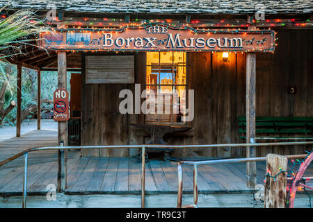 The Borax Museum, Furnace Creek Ranch, Death Valley National Park, California USA - Stock Image
