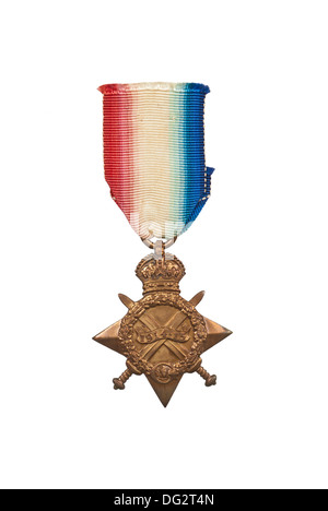 First World War medal  1914-15 Star - cut out - Stock Image