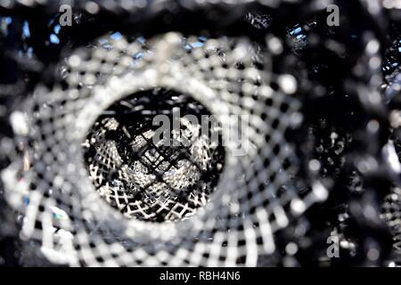 Close up of a lobster pot - Stock Image