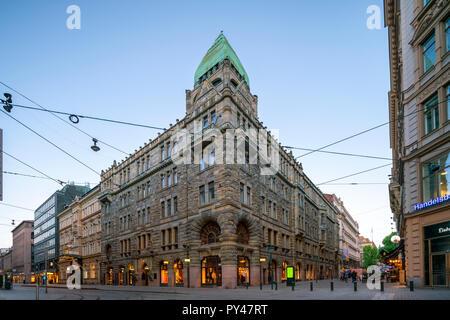 Pohjola Insurance Building Helsinki Finland. A Finnish National Romantic style building by Eliel Saarinen. - Stock Image
