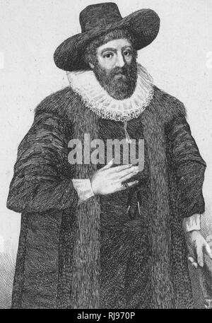 EDWARD ALLEYN Actor; founder of Dulwich College - Stock Image