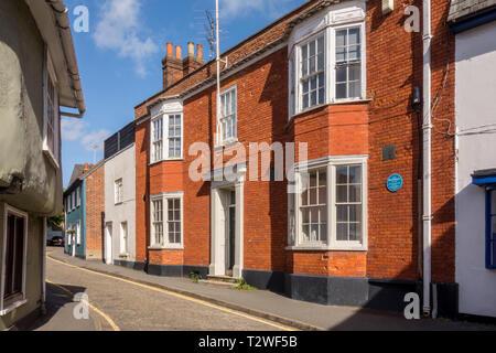Birthplace of Henry Winstanley, Saffron Walden, historic market town in Uttlesford, Essex, UK - Stock Image