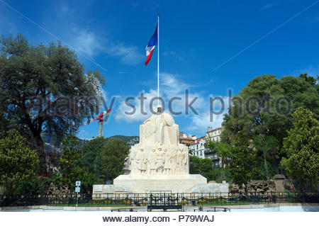 The war memorial for 1914-18 & 1939-45 in the city of Toulon, in the Var department, Provence-Alpes-Côte d'Azur region, southern France. - Stock Image