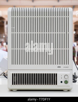 Iconic 20c Braun fan heater designed by Dieter Rams - Stock Image