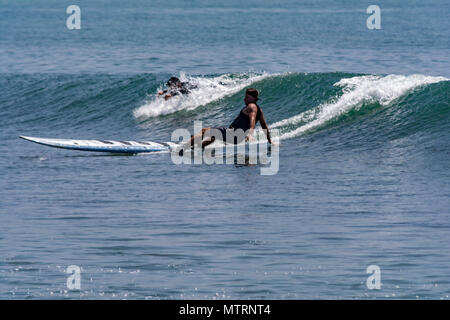 Malibu, CA USA 134 AUG 2017 Surfing event of the World Police Fire Games Credit: Chester Brown/Alamy Live News - Stock Image