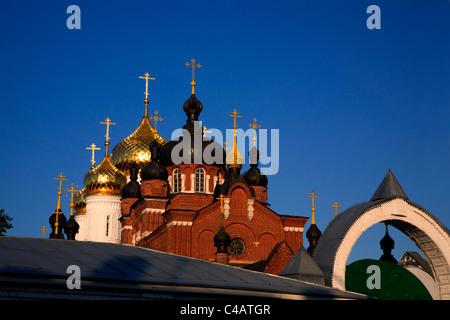 Russia, Golden Ring, Kostroma; The Bogoyavlensko-Anastasin Monastery in the historical centre - Stock Image
