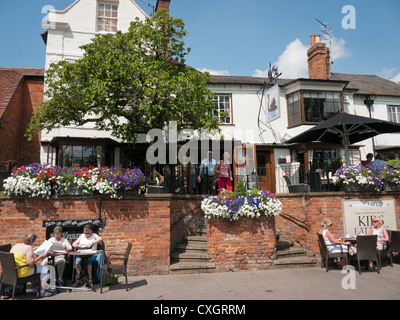 The Black Swan pub also known as The Dirty Duck in Stratford upon Avon - Stock Image