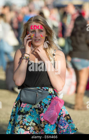 Portsmouth, Hampshire, UK. 23rd August, 2014. Victorious Festival - Saturday, Southsea, Hampshire, England. A festival - Stock Image