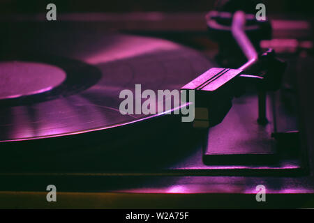 Old record player - Stock Image