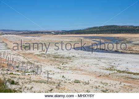 Drought Stricken Landscape In  Area Of Western Cape In South Africa - Stock Image