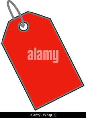 sale discount clearance tag illustration red color - Stock Image