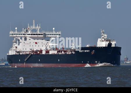 Shuttletanker Scott Spirit - Stock Image