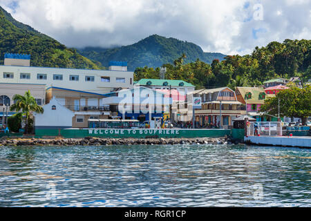 Soufriere town St Lucia. - Stock Image
