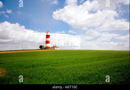 Happisburgh Lighthouse Norfolk coast England UK - Stock Image