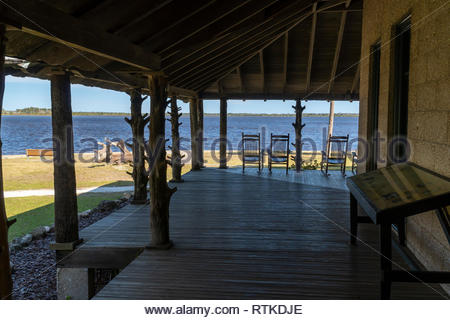 Princess Place Preserve, site of an historic lodge, near St Augustine, Florida USA - Stock Image