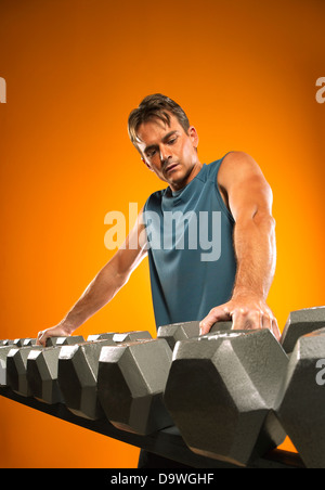 weight lifting - Stock Image