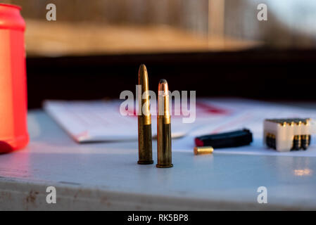 Bullets for a riffle - Stock Image