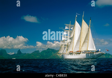 French Polynesia, Society Islands, Leeward Islands, Moorea (aka Aimeho). Star Flyer, - Stock Image