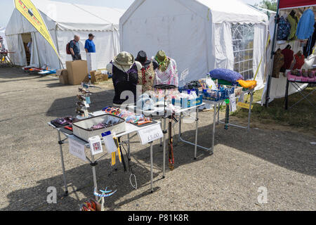 Ladies clothing and accessories stall at Wings and Wheels - Stock Image