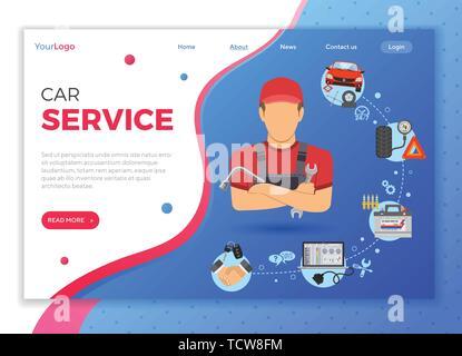 Car Service Concept - Stock Image