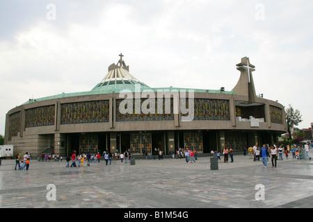 The New Basilica de Guadalupe Mexico City Mexico - Stock Image