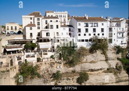 Buildings, Ronda, Andalucia, Spain - Stock Image