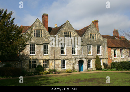Church Buildings in Winchester Close, Part of the Winchester Cathedral Grounds, Hampshire, UK - Stock Image