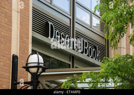 Desert Book - Bookstore Chain of the Mormon Church, Salt Lake City, Utah - Stock Image