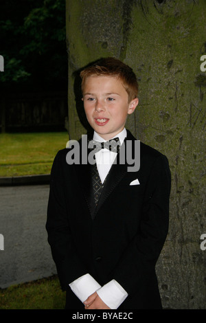 teenager on way to prom - Stock Image