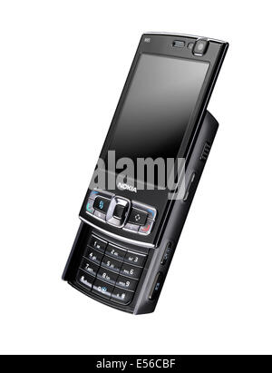 An old style push up Nokia mobile phone - Stock Image