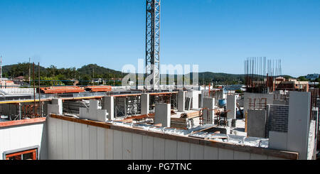 Gosford, New South Wales, Australia - November 16. 2017: Construction and building progress update 63. on new home units building site at 47 Beane St. - Stock Image