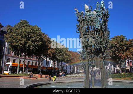 Carnival Fountain, Fastnachtsbrunnen, Landeshauptstadt , Schillerpl., 55116 Mainz, Germany, Europe - Stock Image