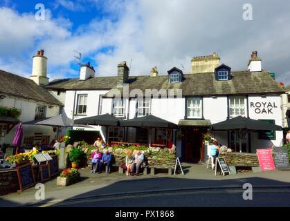 Royal Oak Pub,Ambleside,Lake District,England,UK - Stock Image
