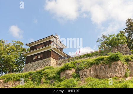 West Turret (circa 16th c.) of Ueda Castle in Ueda, Japan. One of only three survived original towers of the castle - Stock Image