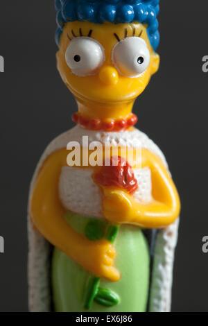 Marge Simpson Plastic Toy Figure - Stock Image