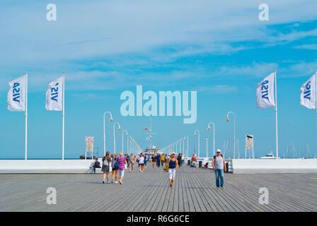 Molo, the pier, Sopot, Poland - Stock Image
