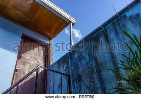 Roof line of a rental house. in Jinotega, Nicaragua - Stock Image