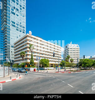 Israel, Tel Aviv - 08 September 2018: Labour Sick Fund Headquarters - Clalit designed by Arieh Sharon and Benjamin Idelson - Stock Image