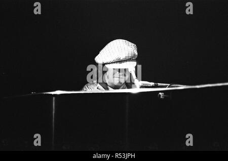 Elton John in concert at Birmingham Hippodrome. 21st April 1979. - Stock Image