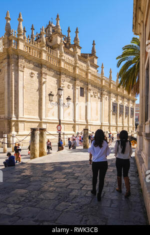 Seville Cathedral, Saint Mary of the See; Seville, Andalucia, Spain - Stock Image