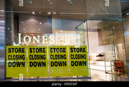 A branch of Jones Bootmaker in Westfield shopping Centre in London closing down - Stock Image