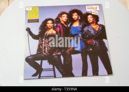 Sister Sledge's 1985 studio album When The Boys Meet The Girls - Stock Image