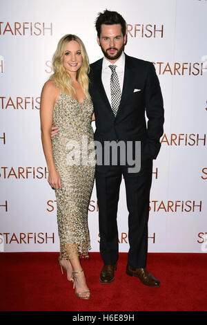 Joanne Froggatt and Tom Riley attending the UK premiere of Starfish at the Curzon Mayfair cinema in London. - Stock Image