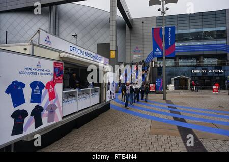 Glasgow, UK, 1st March 2019 : European Athletics Indoor Championships commence today and will last for three days seeing athletes compeeting from all over the Europe. Credit: Pawel Pietraszewski / Alamy Live News - Stock Image