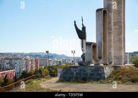 Monument to Saint Nino in Tbilisi, Georgia, Central Asia, Asia - Stock Image