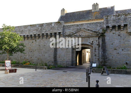 Entrance and courtyard to Ville Close - Stock Image