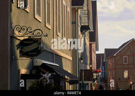 Stoudtburg Village, a condominium community that resembles a fantasy Barvarian town near Adamstown, Lancaster County, Pennsylvania, USA - Stock Image
