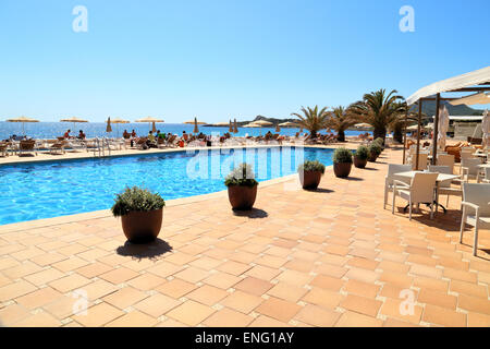 Hotel pool of Sensimar Aguait Resort & Spa, Cala Rajada, Mallorca - Stock Image