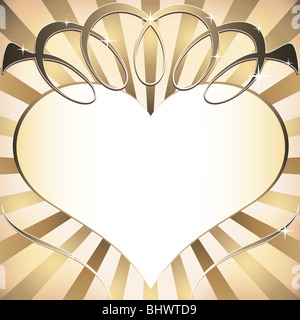Background with heart - Stock Image
