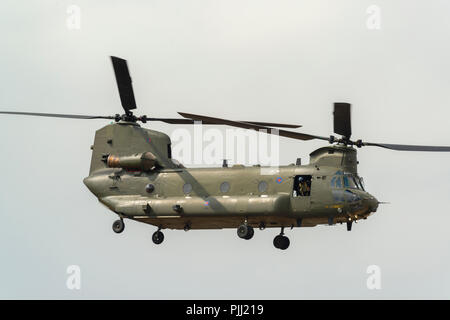 RAF Chinook Helicopter at RAF Fairford RIAT 2018 UK - Stock Image